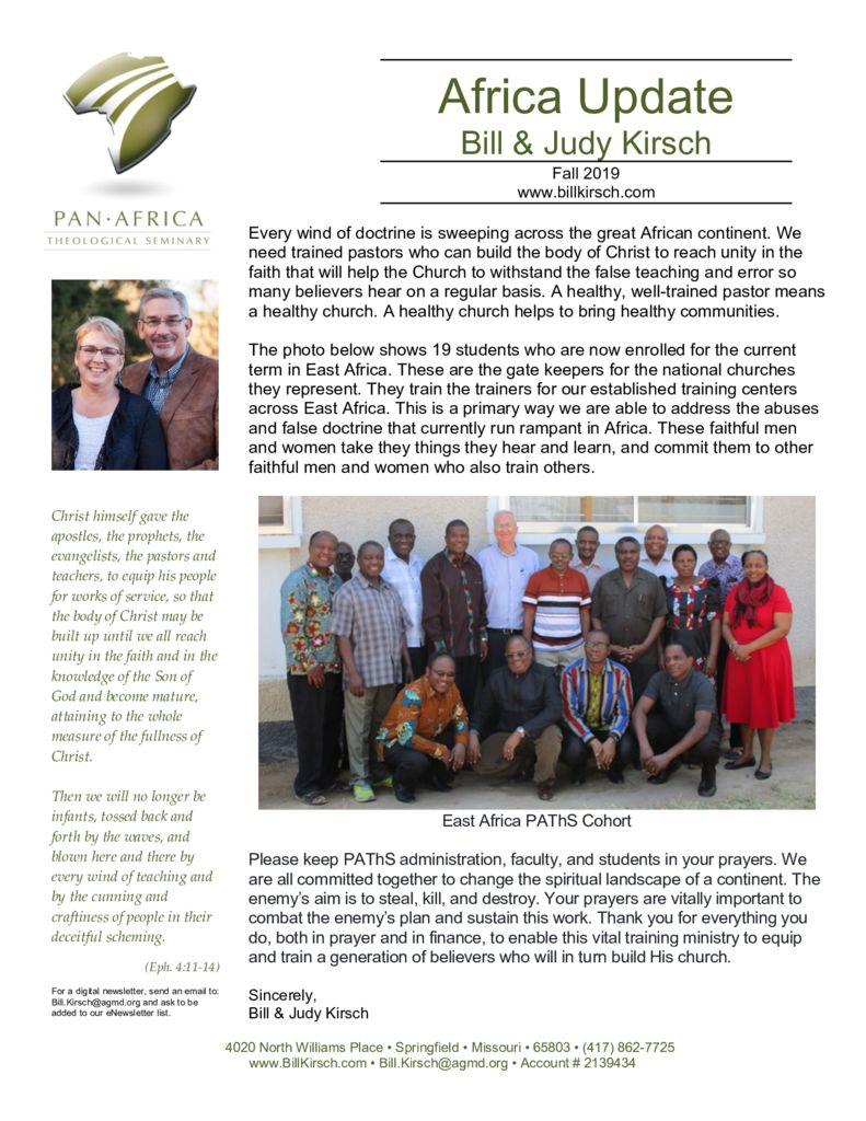 thumbnail of Fall 2019 Newsletter